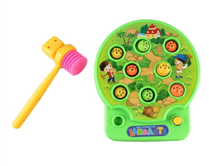 [ Funny ] Whack Lambaste Mole Hamster Attack Hit Mole Electronic Baby Kids Whack-a-mole Game Knock On Animal Head Education Toy
