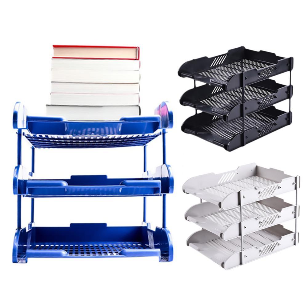 Multi-function Office Desk Organizer 3 Trays File Holder File Tray For Letter Paper Document Office Desktop