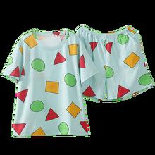 Pijamas sin chan homem pijama sinchan algodão verão curto define pijamas japoneses para casais homem e mulher pijamas 2021