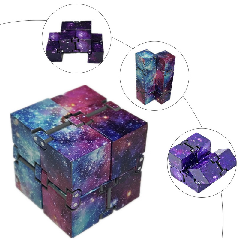 Toy Infinity-Cube Stress Finger EDC Relief-Cube-Blocks Anxiety Ul for Adult Kids Funny img2