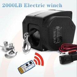 12V 2000 lbs bezprzewodowy kabestan elektryczny do użytku morskiego|Narzędzia i akcesoria do podnoszenia|   -