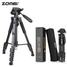 ZoMei noir Q111 trépied professionnel léger support de caméra de voyage Portable + tête panoramique + sac de transport pour appareil photo numérique reflex DSLR