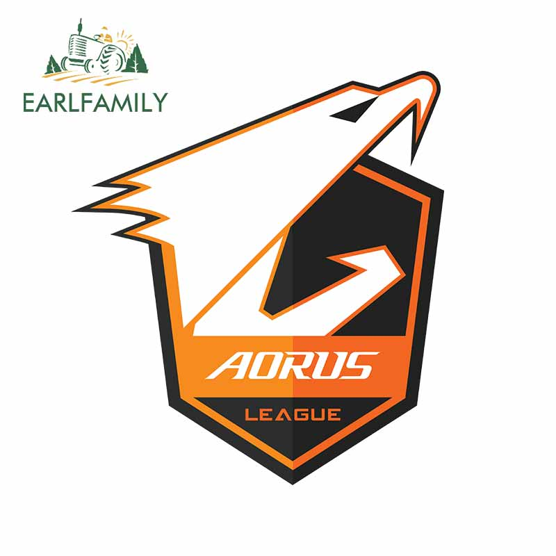EARLFAMILY 13cm X 12.7cm For Aorus League CSGO Car Stickers And Decals Waterproof Anime Scratch-proof Car Styling JDM Decoration