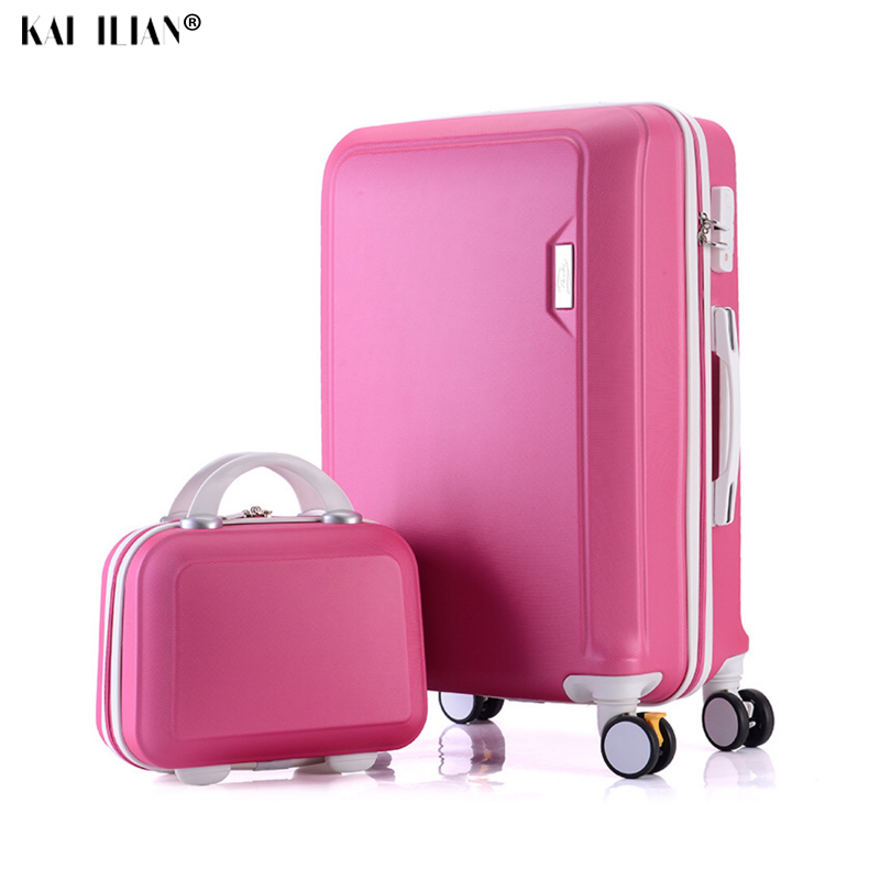 Rolling Luggage Set Spinner Women Suitcase Wheels Travel Bag Trolley 20 Inch Carry Ons Handle Bag Trolley Case Cabin Luggage