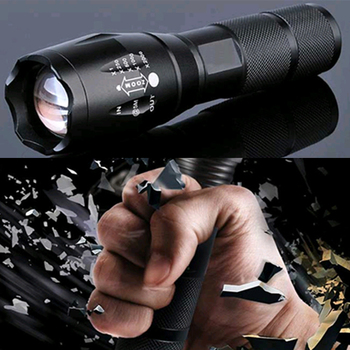Z45 Led Flashlight Ultra Bright Waterproof MINI Torch T6/L2/V6 zoomable 5 Modes 18650 rechargeable Battery for camping tactical 2