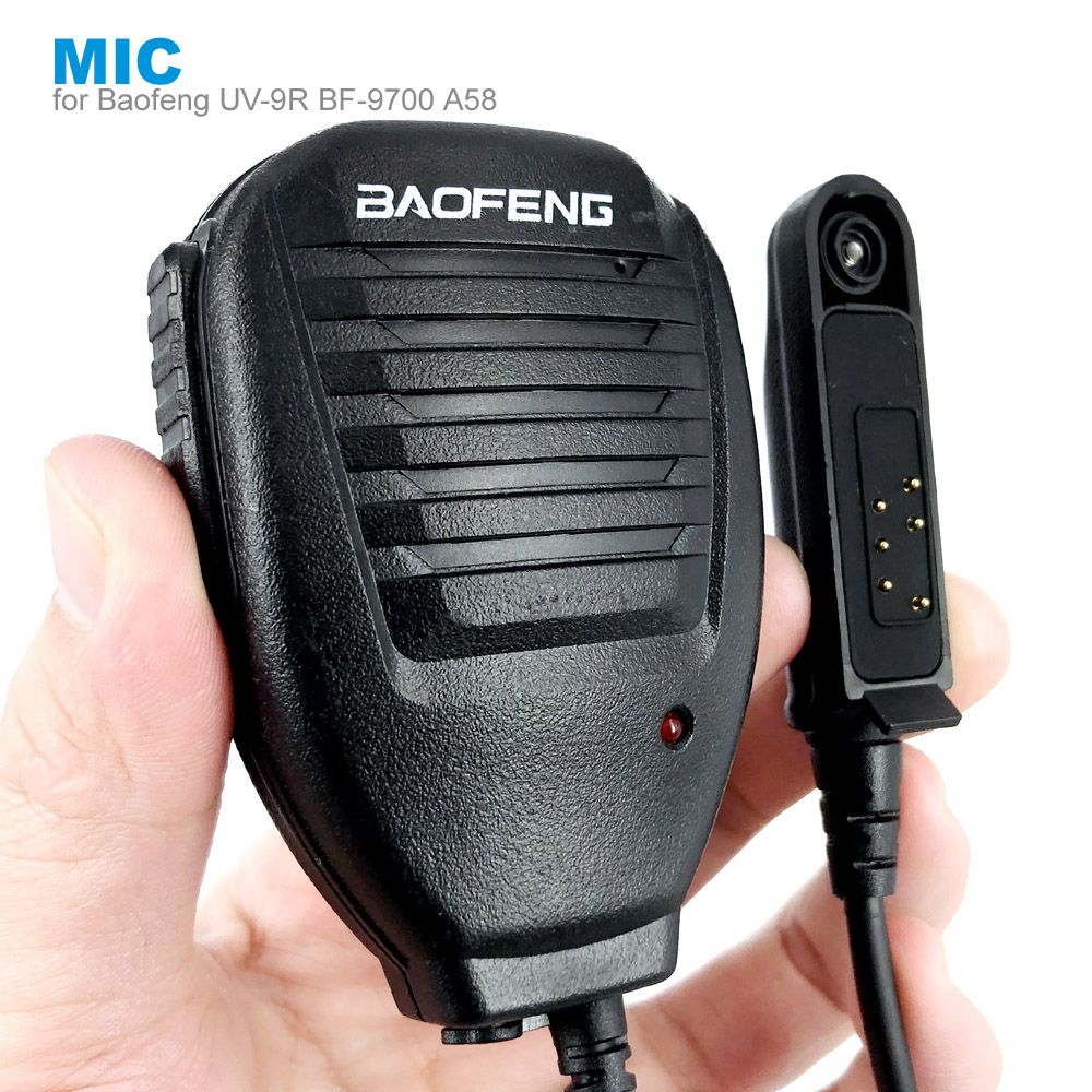 PTT Shoulder Microphone Speaker Mic For BAOFENG A58 BF-9700 UV-9R Plus GT-3WP R760 82WP Waterproof Walkie Talkie Two Way Radio