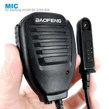 Walkie talkie ptt de ombro com microfone, para baofeng a58 BF 9700 UV 9R plus GT 3WP r760 82wp, à prova d água, rádio bidirecional