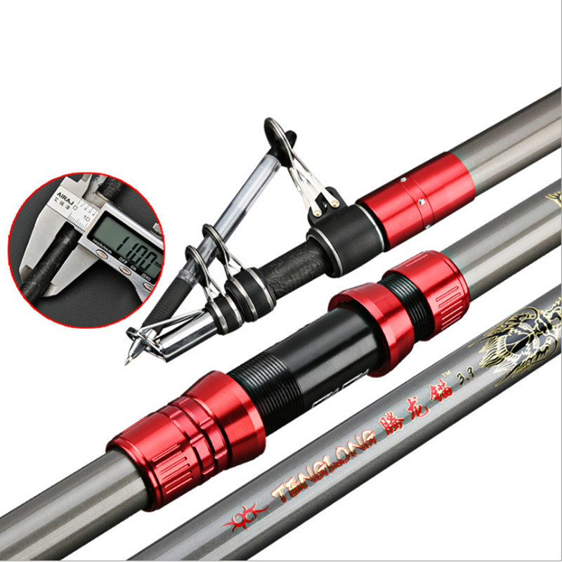 fibra de carbono 3 6 m 2 7 3 0 3 9 fiacao vara de pesca