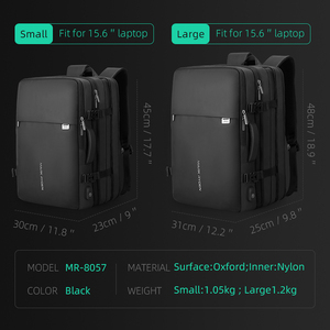 Image 3 - Mark Ryden Men Backpack Fit 17 inch Laptop USB Recharging Multi layer Space Travel Male Bag Anti thief Mochila