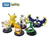 6 Teile/satz Pokemon Anime Rolle Puppen Figur Pikachu Lunayara Gott der Schöpfung Alyus Solgaleo Modell Sammeln Spielzeug Geburtstag Geschenke