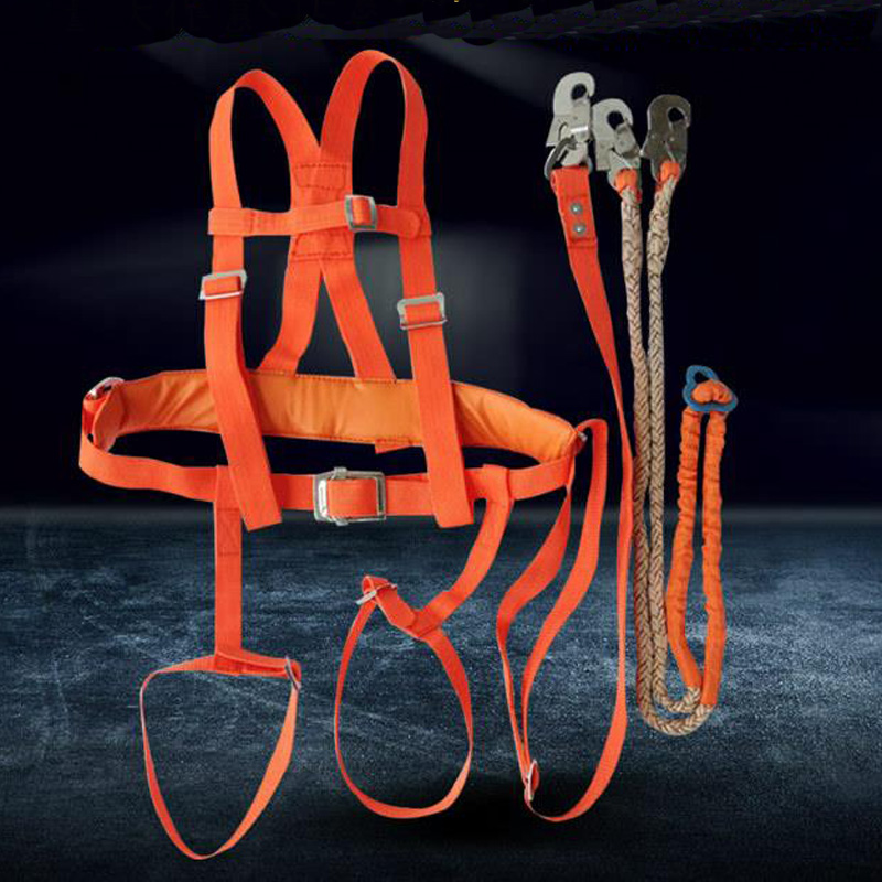 Electrician Safety Belt Single Hook Seat Belt Double Back Frame Long Rope For Labor Work Building Protection Equipment DAQ001