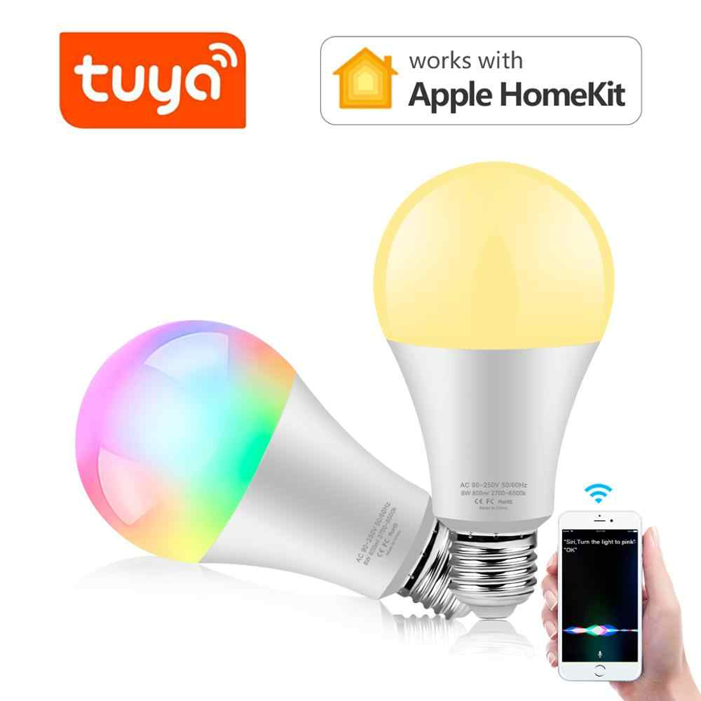 Tuya Rgb Wifi Led Slimme Lamp Licht Draadloze Smart Home Automation Lamp ,85-265V Slimme Leven Lamp Compatibel Voor Alexa Google Thuis