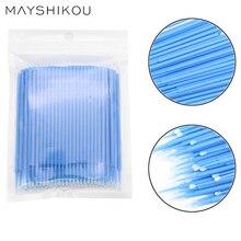 MAYSHIKOU 100шт накладные ресницы ватным тампоном одноразовые ресницы расширение макияж инструменты индивидуальный ресницы кисти-тушь