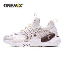 ONEMIX 2020 yeni koşu ayakkabıları için erkek yüksekliği artan Ulzza Harajuku yastıklama platformu Retro spor ayakkabı yürüyüş Sneakers