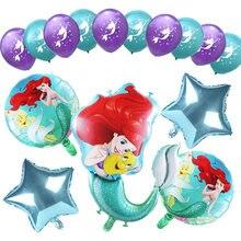 Balões de látex da princesa da sereia ariel, 1 conjunto de desenhos animados, princesa da disney, chá de bebê, decoração de festa de aniversário, brinquedos para meninas de 10 polegadas bola bola bola
