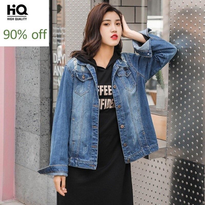 2020 Fashions Womens Denim Short Coat Letter Black Hoodies Midi Dress Two Piece Set Spring Autumn Long Sleeve Frayed Jean Jacket