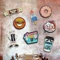 Фигурный плакат десерт пирог зевахтен горячий желтый гамбургеры металлические нашивки с надписью винтажная табличка Бар Паб Магазин дома ...