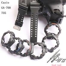 Аксессуары для часов 16 мм ремешок из смолы для камуфляжа Casio G-SHOCK GA-700 710 735 спортивный прозрачный силиконовый ремешок для мужчин и женщин