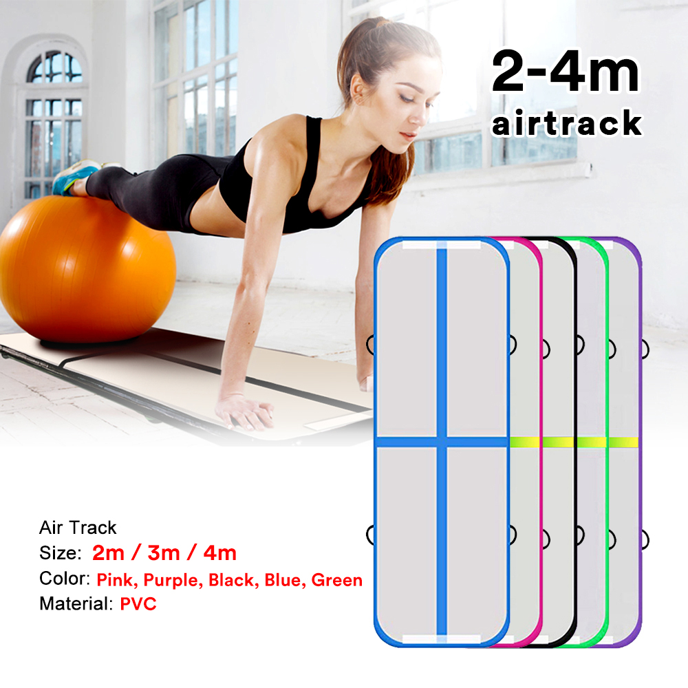 Inflatable Air Track 2m 3m 4m Gymnastics Professional Airtrack Yoga Sport Wrestling Buffer Prevent Injuries Tumbling Mats