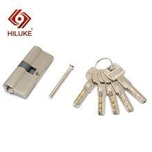 цена на HILUKE 70 European standard lock cylinder security door copper alloy lock core hardware C70.5C