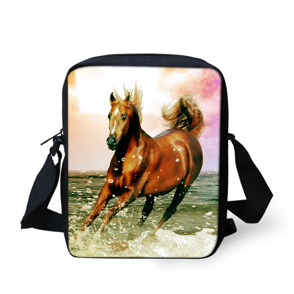 Horse Galloping Kindergarten Men And Women CHILDREN'S Rucksack Fashion Mini Baby Shoulder Bag