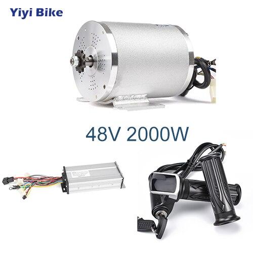 Elektrische Bike 48V 2000W Bürstenlosen Getriebe Hub Motor BLDC Controller LCD Drossel Hohe Geschwindigkeit Elektrische Motor Roller Umwandlung kit