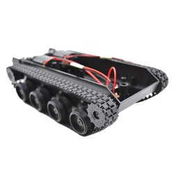 Luz-dever choque-absorvente tanque de borracha rastreador carro chassis kit rastreado veículo rc tanque robô inteligente diy robô brinquedos