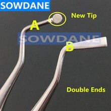 Стоматологический упаковщик для удаления десен, инструмент для удаления зубного камня, разделитель десен, инструмент из нержавеющей стали с двойными концами
