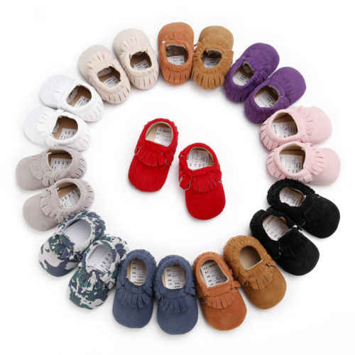 Infant Toddler Baby Boy Girl Soft Sole Crib Fringe Shoes Sneaker Newborn to 18 Months Walking trainer