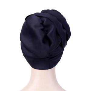 Image 5 - Helisopus Musulmano Delle Donne Solido Grande Elastico Turbante Cappelli di Partito Elegante Copertura Della Testa Wrap Cancro Chemio Berretti Cap Accessori Per Capelli