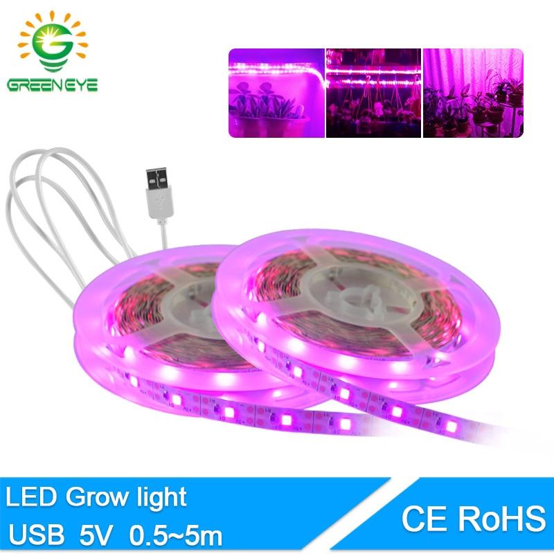 LED Plant Strip1M 2M 3M 4M 5M USB 5V Flexible LED Light Lamp SMD 2835 Mini 3Key 24Key Desk Decor Screen TV Background Lighting