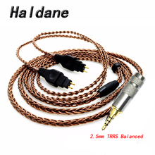 Cavo per cuffie Haldane 4.4mm 2.5mm TRRS bilanciato per cuffie HD650/HD565/HD580/HD600/HD660S/HD25 bronzo