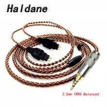 Haldane 4,4mm 2,5mm TRRS Ausgewogene Männlichen Upgrade Kopfhörer Kabel für HD650/HD565/HD580/HD600/HD660S/HD25 Kopfhörer Bronze
