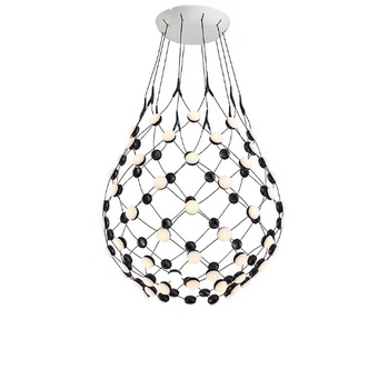 Nordic chandelier personality creative aluminum living room lamp simple modern dining room lamp bedroom study villa LED lamps