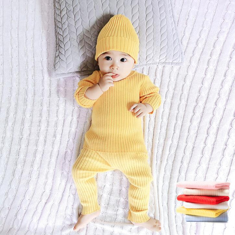 Baby Girl Clothes Newborn Winter Baby Clothes Set Sweater + Pants 2pcs Knitted Baby Clothing Cotton Infant Girl Boy Baby Outfit