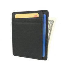 Super Slim Soft Wallet Genuine Leather Mini Credit Card Wallet Purse Card Holders Men Wallet Thin Small(China)