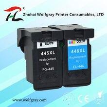 Compatível PG 445 445XL cl446 pg445 PG-445 CL-446 CL 446xl cartucho de tinta para Canon PIXMA MG 2440 2540 2940 MX494 IP2840