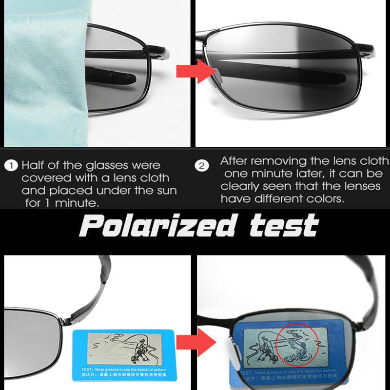 Classic Brand Photochromic Sunglasses Men Polarized For Driving Women Square Sunglasses Chameleon Glasses UV400 gafas de sol in Men 39 s Sunglasses from Apparel Accessories