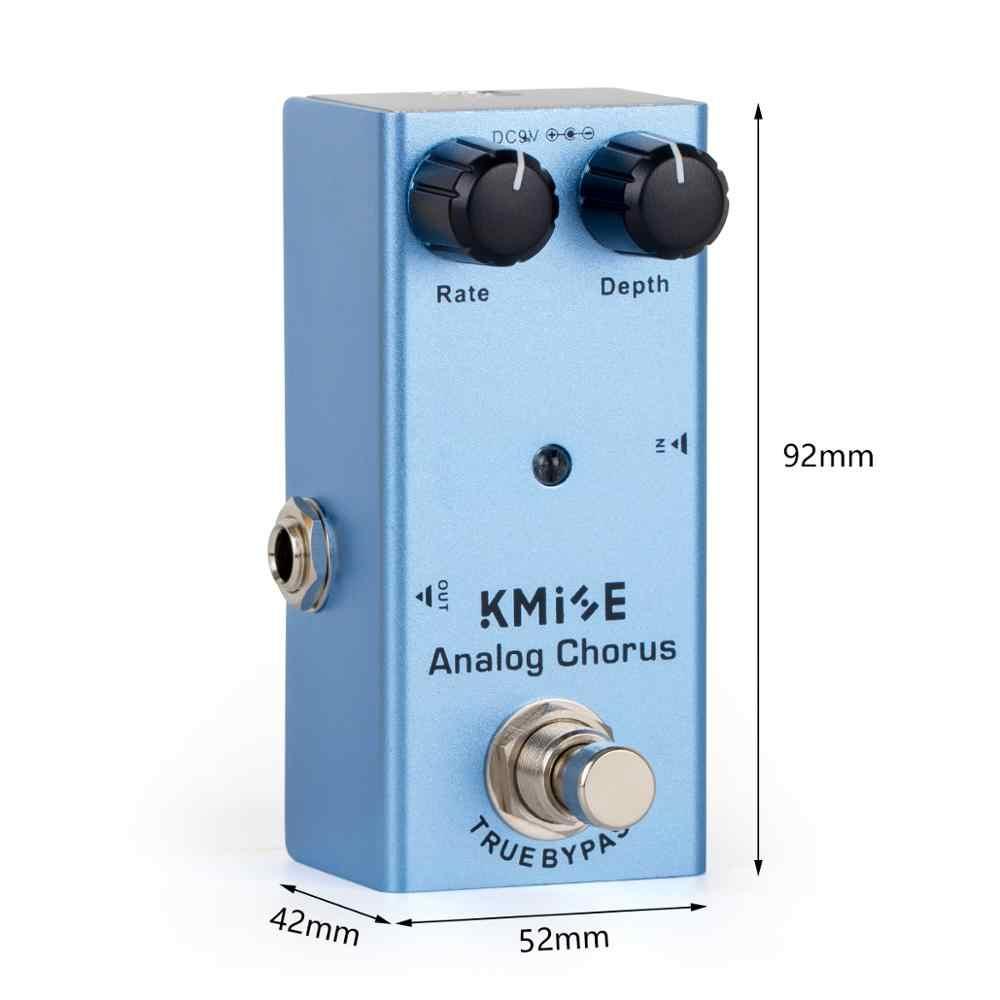 Kmise Analog Chorus Gitarre Effekt Pedal Mini Einzel DC 9V True Bypass für Elektrische Gitarre