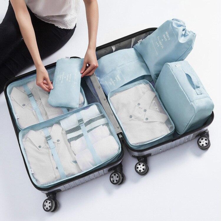 Organizador 7pcs/set Travel Accessories Travel Package Organizer Travel Packing Organizers Neat Sort For Shirt Pants Bra Socks