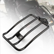 Black Steel Painted Motorcycle Stock Solo Sea Luggage Carrier Support Shelf Frame Rack Fit For Sportster XL Nightster 04-14