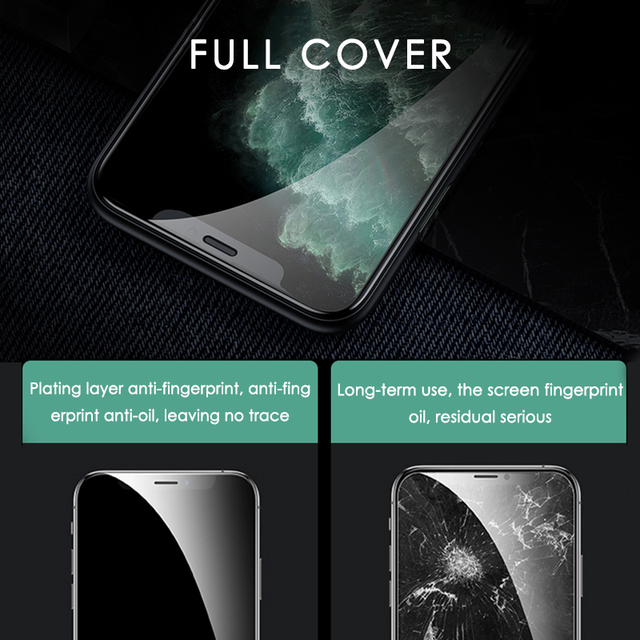 3PCS Full Cover Protective Glass On For iPhone 11 7 8 6 6s Plus SE 2020 Screen Protector For iPhone X XR XS 11 12 Pro Max Glass 4