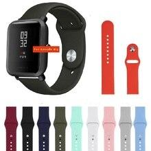 20mm Silikon Weiche bands für Xiaomi Huami Amazfit Bip strap gürtel Uhr Armband für galaxy watch 42mm/getriebe s2 sport Armband