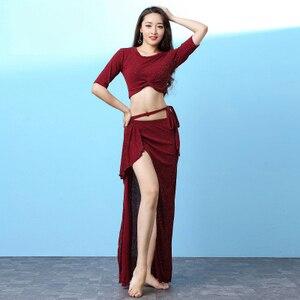 Image 3 - מכירה לוהטת משלוח חינם 2019 חדש גבירותיי בטן ריקוד חליפת בגדי ריקוד ביצועים בפועל בגדי בגדים סקסי חצאית בגדים