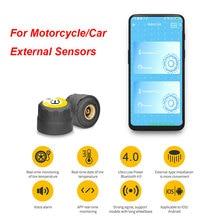цена на TPMS Tire Pressure Alarm Sensor Motorcycle Car Auto External Sensors for Android IOS tpms Monitoring System tmps tire pressure