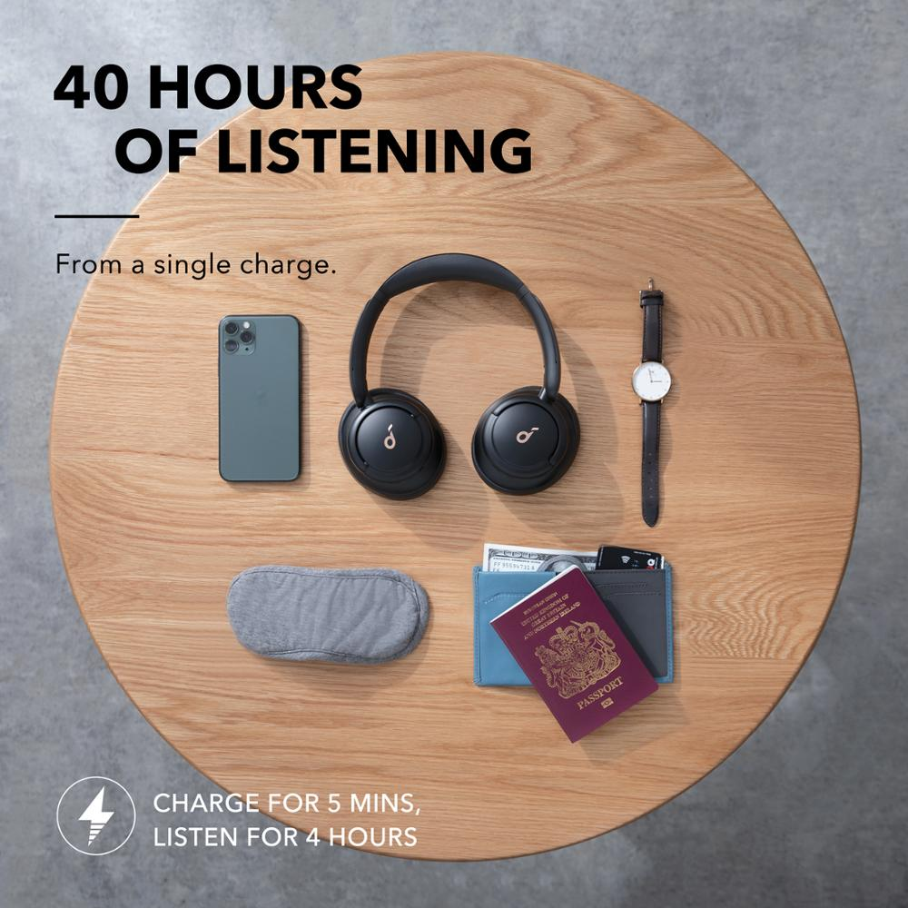 Soundcore by Anker Life Q30 Hybrid Active Noise Cancelling Headphones with Multiple Modes, Hi Res Sound, 40H Playtime Bluetooth Earphones & Headphones  - AliExpress