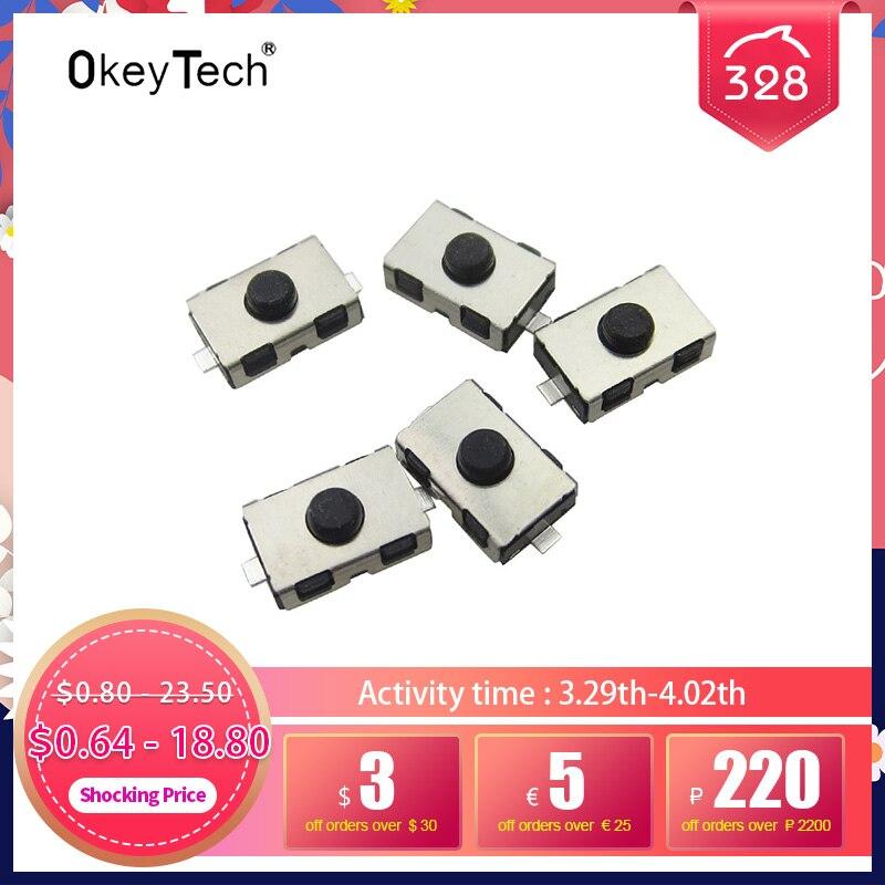 OkeyTech тактильные пуш-ап кнопочный сенсорный переключатель ключи Дистанционного микропереключатель для Citroen Peugeot, Opel пуш-ап тактильные 6*3,8 мм