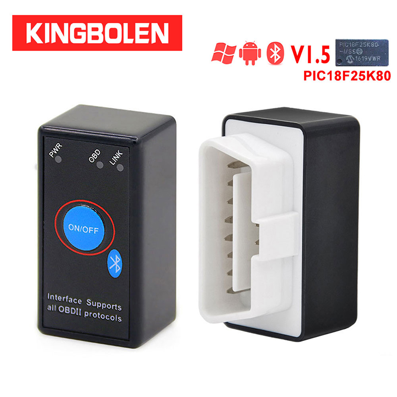 ELM327 V1.5 PIC18F25K80 Chip OBD2 Code Reader Bluetooth J1850 