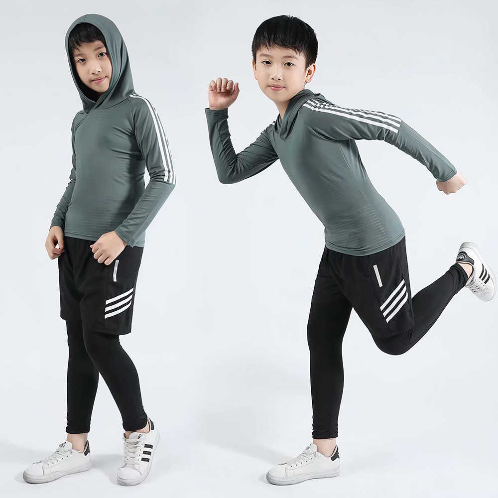 Kids Boys Running Leggings Kids Men Fitness Training Pants Sports Clothing  Jogging Suits Compression Wear Set Underwear Set|Children Sports Sets| -  AliExpress