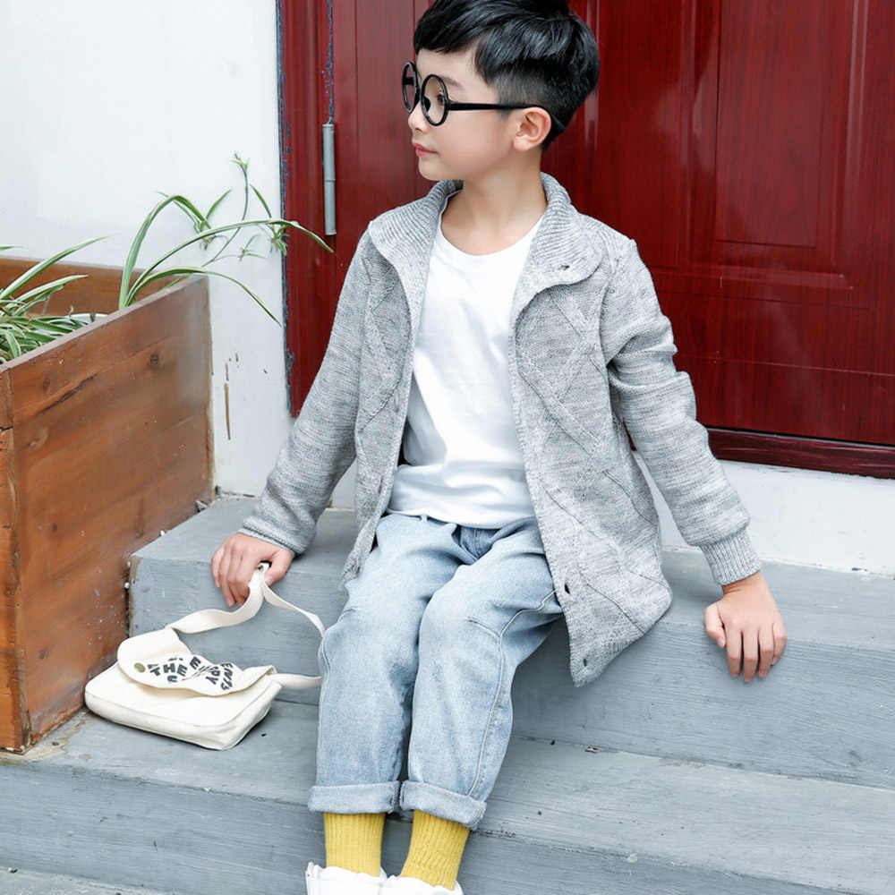 CYSINCOS Otoño Invierno niños bebés chaqueta de Rebeca niños suéteres de algodón para bebés Chaqueta de punto suéteres ropa para niños